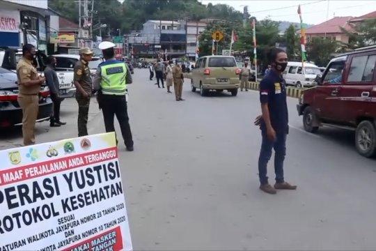 Tekan penyebaran,Pemkot Jayapura gelar operasi yustisi