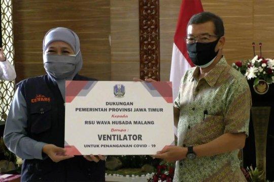 Gubernur Khofifah periksa kesiapan rumah sakit lapangan di Kota Malang