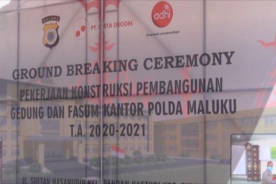 Pemancangan tiang pertama gedung Mapolda Maluku