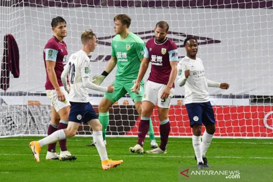 Manchester City mulus lewati Burnley ke perempat final Piala Liga