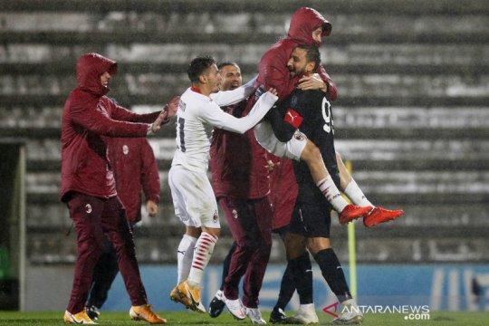AC Milan lolos fase grup Liga Europa lewat drama adu penalti