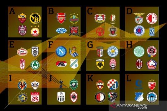 Hasil undian Liga Europa: Milan dan Napoli di grup berat