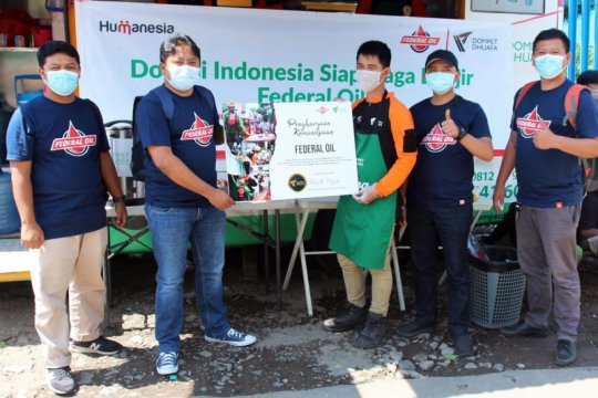 Federal Oil - Dompet Dhuafa salurkan bantuan korban banjir Sukabumi