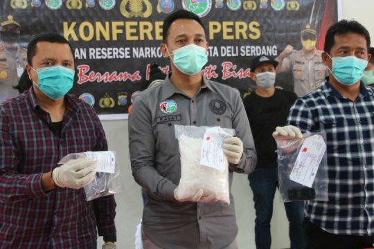 Aparat Polresta Deli Serdang tangkap kurir sabu-sabu 1,5 kg
