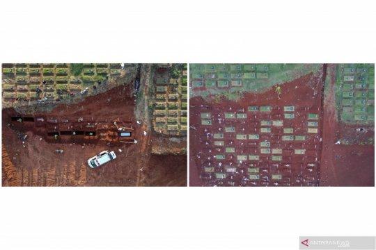 Pemakaman tumpang COVID-19 di Pondok Ranggon khusus keluarga