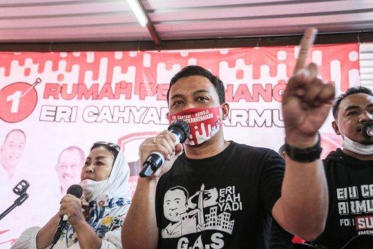 Rumah pemenangan tampung relawan Eri-Armuji di Pilkada Surabaya