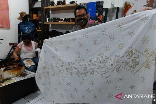 Pebatik difabel Jaksel ciptakan motif batik unsur Corona