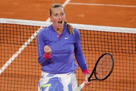 Kvitova menuju semifinal kedua di Roland Garros