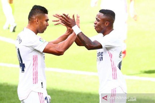 Vinicius kembali jadi pembeda saat Real Madrid tundukkan Levante