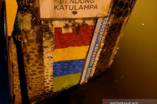 Hujan gerimis, tinggi air Bendung Katulampa Bogor normal