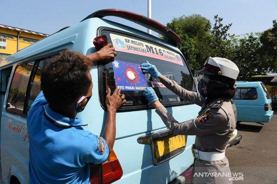 Dishub catat 7.774 pelanggaran PSBB bidang transportasi