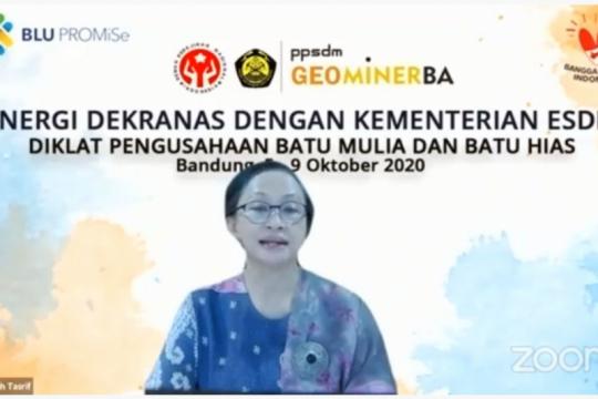 Kementerian ESDM-Dekranas gelar diklat usaha batu mulia dan batu hias