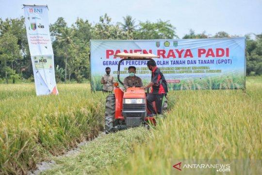 Kejar produksi, Mentan panen dan tanam padi di Lampung Tengah