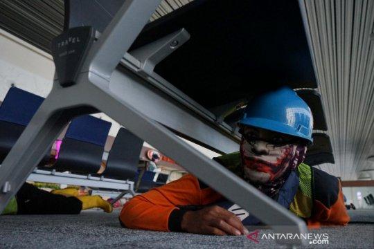 Latihan mitigasi gempa di Bandara Internasional Yogyakarta