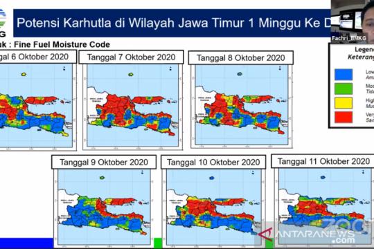 BMKG peringatkan masih ada potensi karhutla di Pulau Jawa