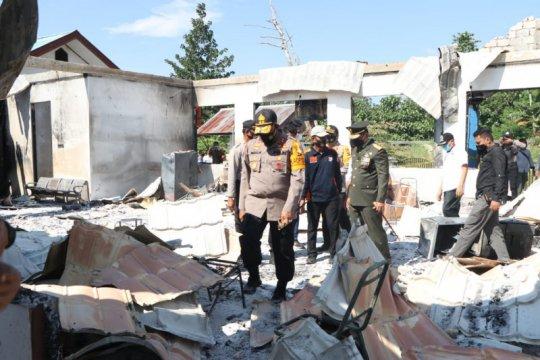 Polisi Keerom tetapkan 5 tersangka pembakaran kantor Disnaker