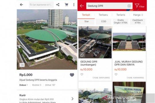 Tokopedia tindak tegas penyalahgunaan akun iklan Gedung DPR
