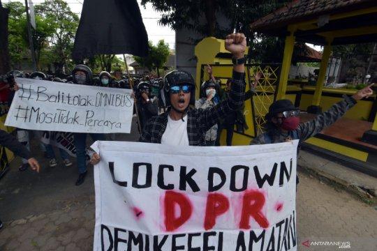 """Polisi selidiki dugaan korlap gadungan dalam aksi """"Tolak Omnibus Law"""""""