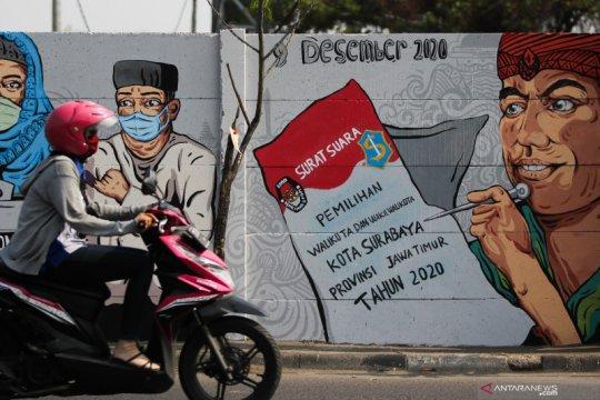 Mural Pilkada Surabaya 2020