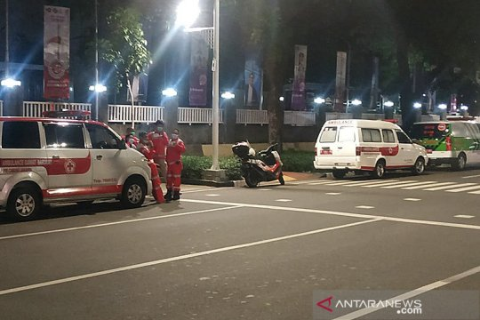 Aksi buruh, PMI Jakarta Selatan siagakan ambulans dan tenaga medis