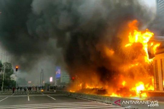 TransJakarta kecam tindakan perusakan dan penjarahan aset perusahaan