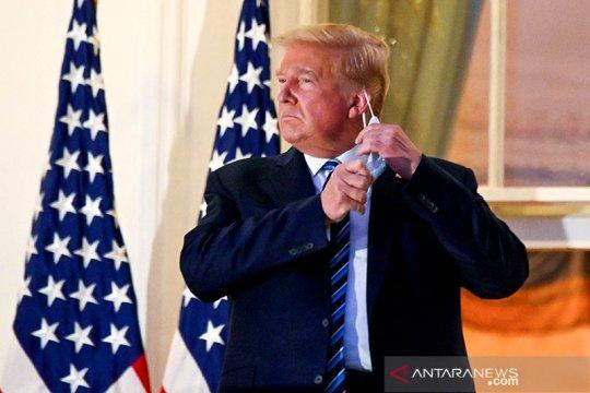 Trump 'bebas gejala' COVID-9, kembali berkantor di Gedung Putih