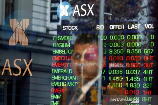 Saham Australia dibuka naik terangkat harga emas dan bijih besi