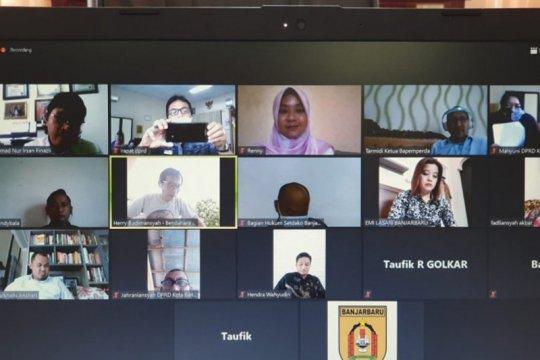 Gedung DPRD ditutup anggota dewan Banjarbaru raker virtual