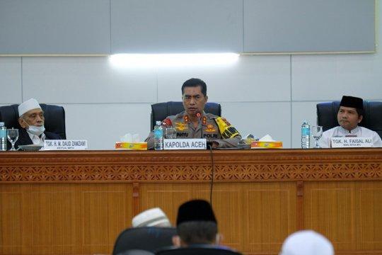 Kapolda Aceh ajak ulama sosialisasikan protokol kesehatan