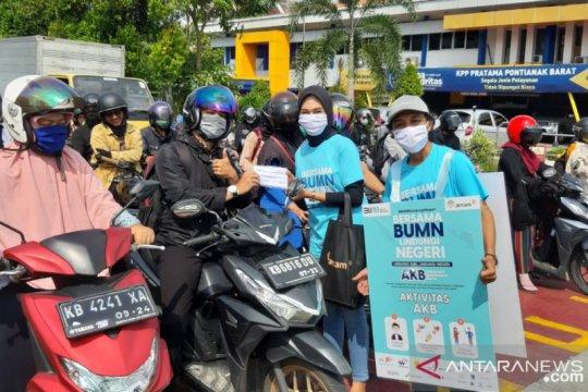 Masyarakat Pontianak mulai terbiasa gunakan masker cegah COVID-19