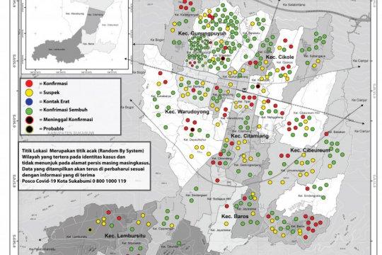 Tingkat kesembuhan pasien COVID-19 di Kota Sukabumi 75,7 persen