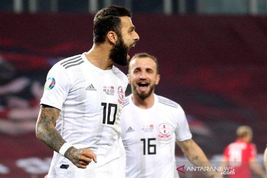 Georgia lewati Belarusia jadi finalis playoff kualifikasi EURO pertama