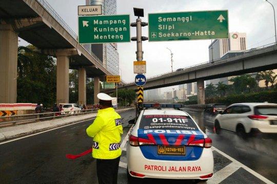 Arus lalu lintas di DKI Jakarta lancar pada Jumat pagi