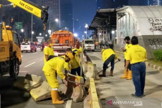 Bina Marga Jakpus catat 13 titik kerusakan fasilitas akibat kericuhan