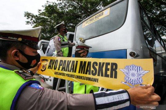 Seruan penggunaan masker di kendaraan umum