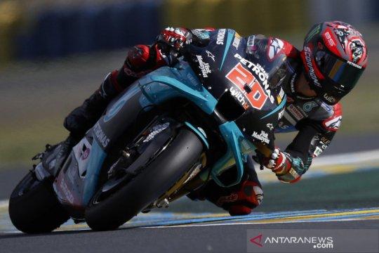 Quartararo rebut pole position GP Aragon setelah kecelakaan di latihan