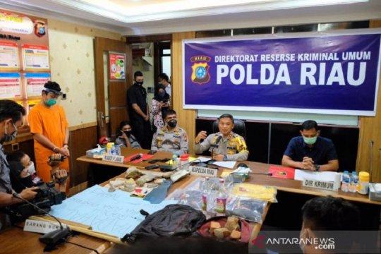 Perusak mobil polantas saat aksi di Pekanbaru ditangkap polisi