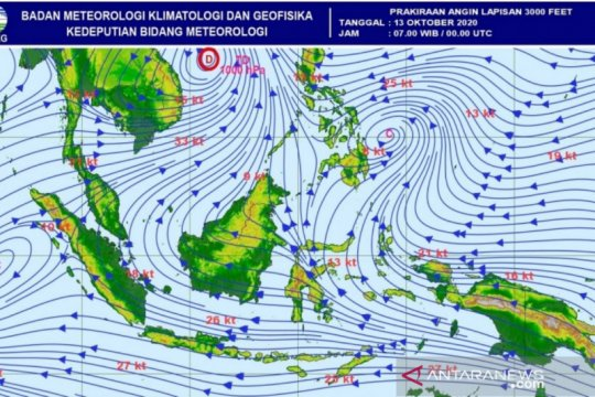 BMKG sebut 27,5 persen wilayah RI alami hujan di atas normal
