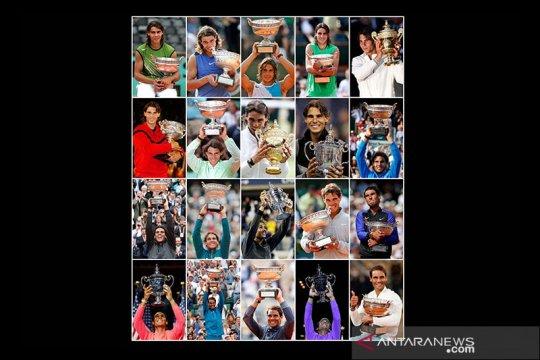 Rafael Nadal dan rekor 20 trofi grand slam-nya