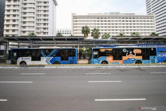 5 rute TransJakarta dimodifikasi imbas aksi buruh di Patung Kuda