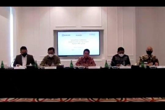 Proses penggabungan tiga bank syariah milik BUMN dimulai