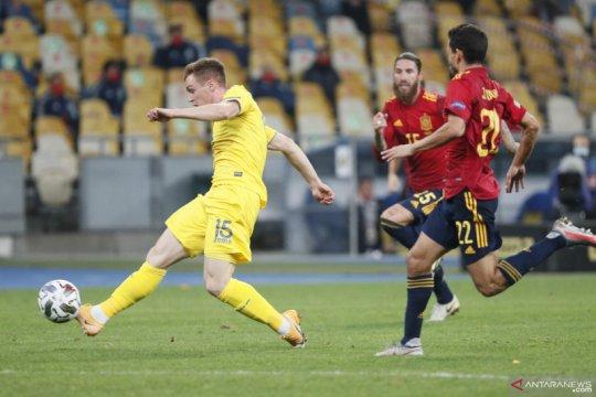 Gol semata wayang Tsigankov bawa Ukraina menang tipis 1-0 atas Spanyol