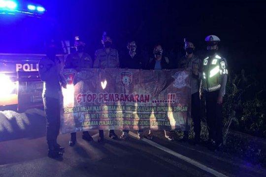 Satgas Karhutla Polda Kalsel tingkatkan patroli malam hari