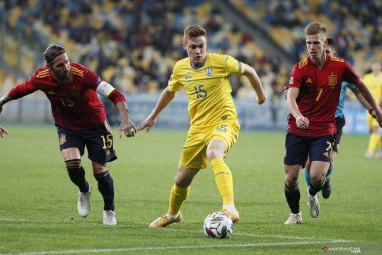 UEFA Nations League: Ukraina kalahkan Spanyol 1-0