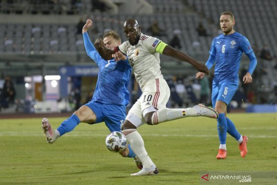 Dwigol Lukaku amankan kemenangan 2-1 Belgia atas Islandia