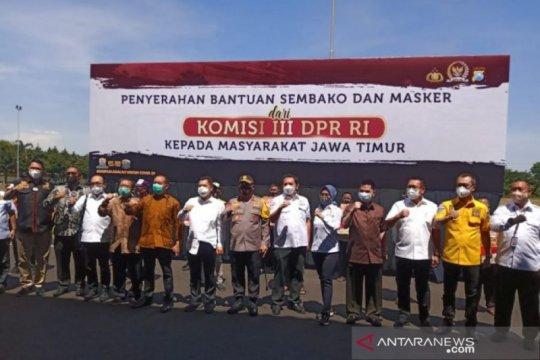 Komisi III DPR RI pantau penanganan kasus kriminal di Polda Jatim