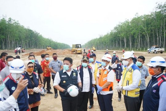 Waskita Sriwijaya Tol groundbreaking JTTS ruas Palembang-Betung