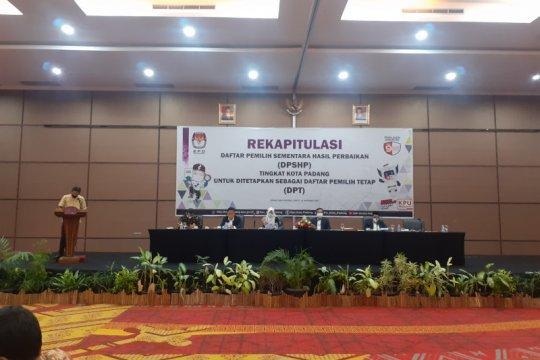 KPU Padang tetapkan DPT sebanyak 613.513 pemilih