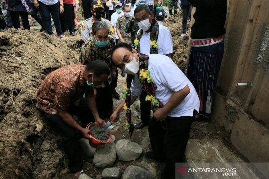 Peletakan batu pertama Jembatan Lampiring Sulsel dilakukan Wamendes