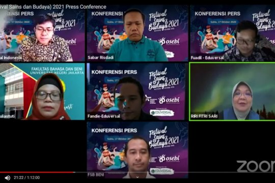 Festival Sains dan Budaya 2021 digelar secara daring